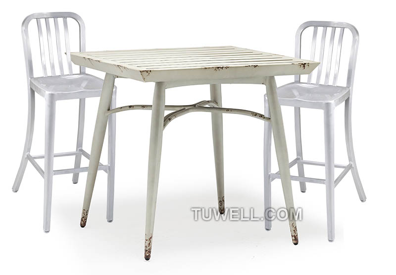 Tuwell-Professional Navy Dining Chairs Tw1004-l Aluminum Navy Barstool With Vertical-5