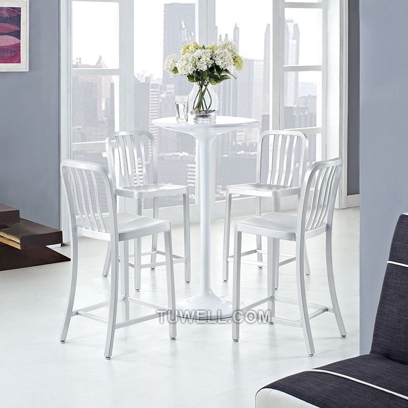 Tuwell-Professional Navy Dining Chairs Tw1004-l Aluminum Navy Barstool With Vertical-15