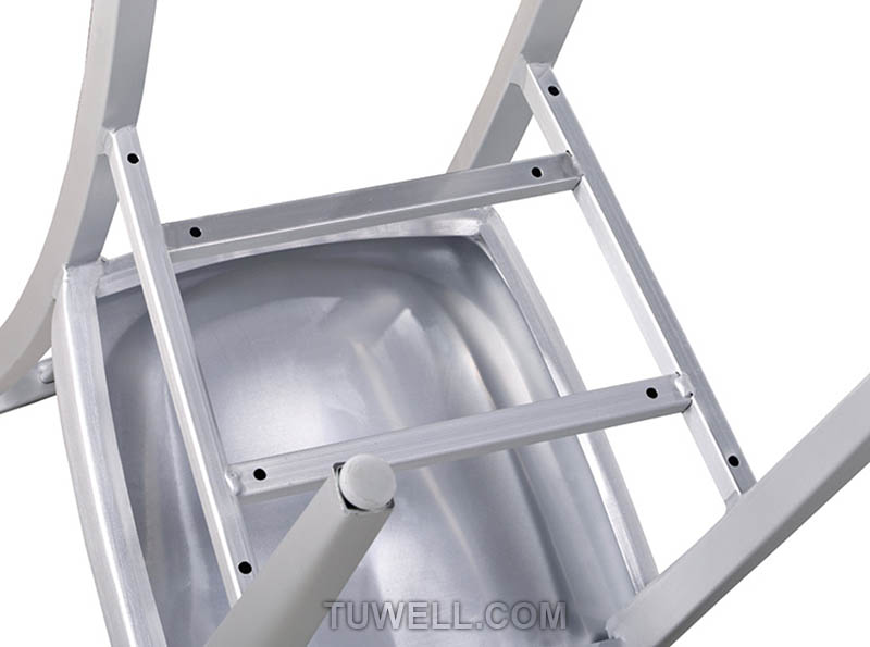 Tuwell-Best Tw1004-l Aluminum Navy Barstool With Vertical Slat Back Manufacture-7