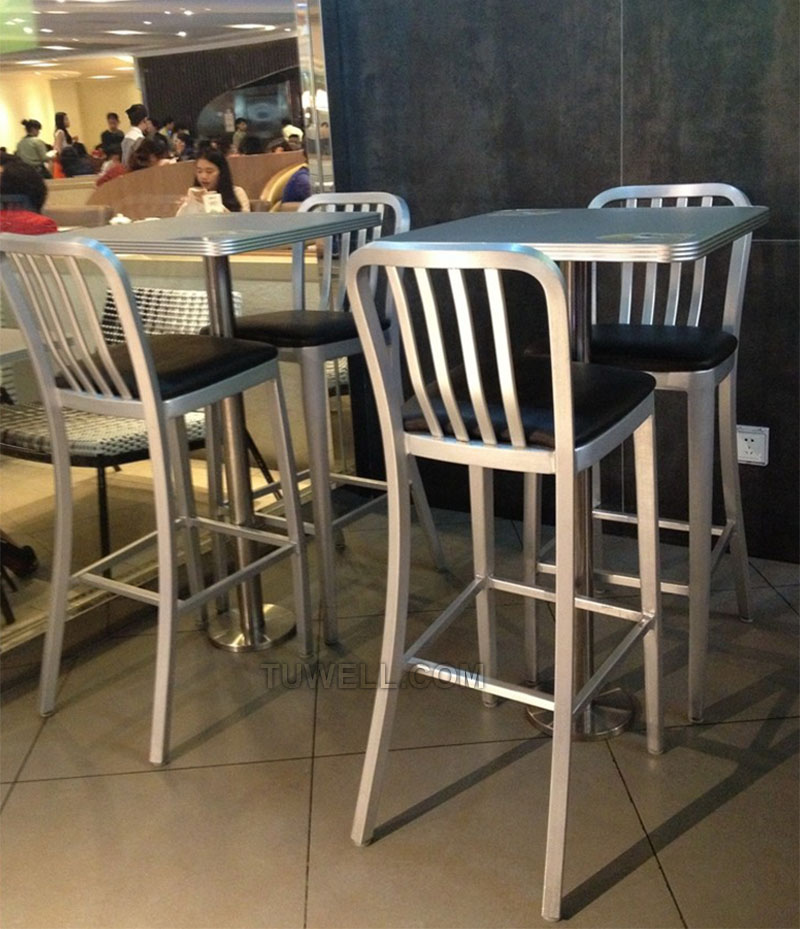 Tuwell-Professional Navy Dining Chairs Tw1004-l Aluminum Navy Barstool With Vertical-17