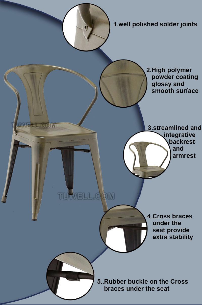 Tuwell-Best Tw8012 Steel Tolix Chair Galvanized Tolix Chair-5