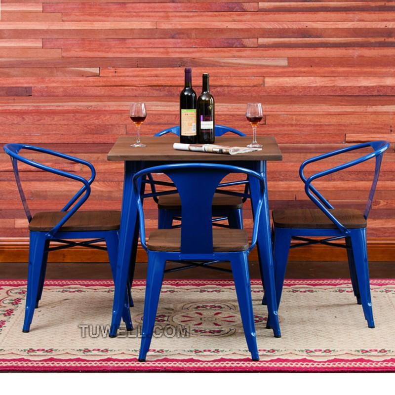Tuwell-Best Tw8012 Steel Tolix Chair Galvanized Tolix Chair-16