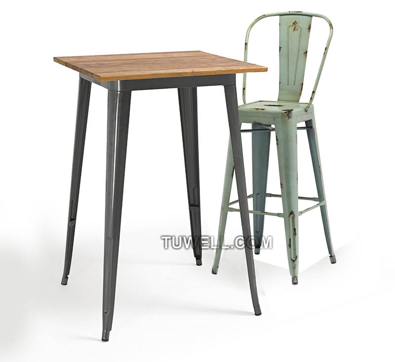 Tuwell-High Quality Tw8004 Steel Tolix Barchair | Tolix Chair-4