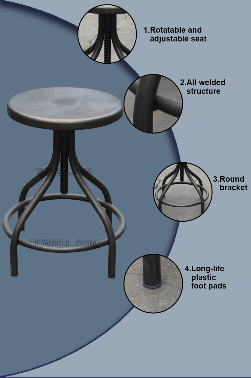 Tuwell-Tw8090 Steel Barstool | Steel Chair | Tuwell Industrial Limited-5