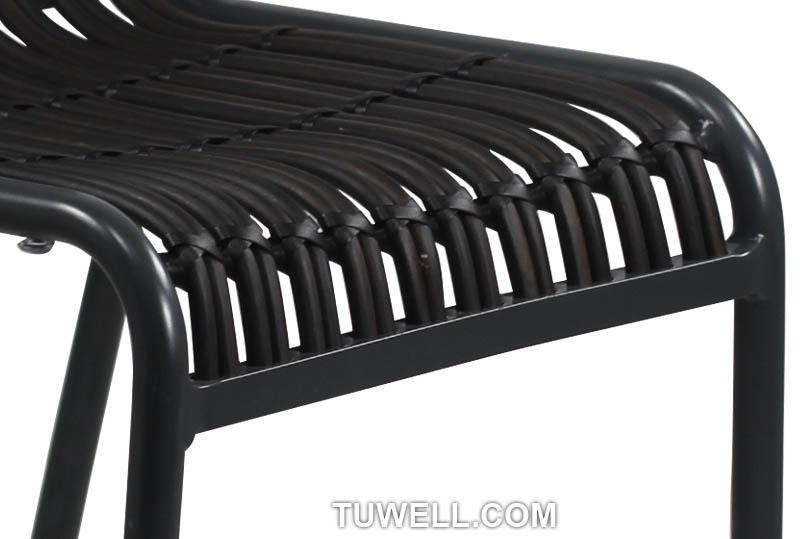 Tuwell-Best Tw8109-l Aluminum Rattan Bar Chair Small Rattan Chairs-9