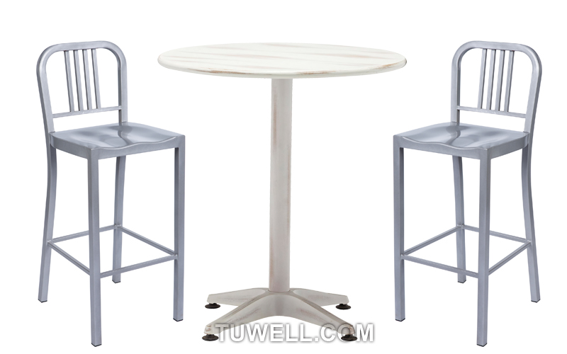 Tuwell-Tw1030-l Emeco Steel Navy Bar Chair Indoor And Outdoor Strong Aluminum-4