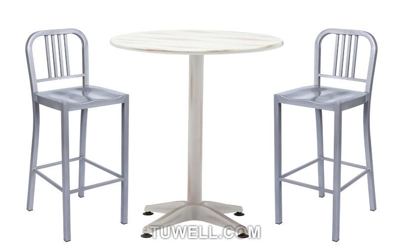 slat Custom aluminum wood navy dining chairs Tuwell stool