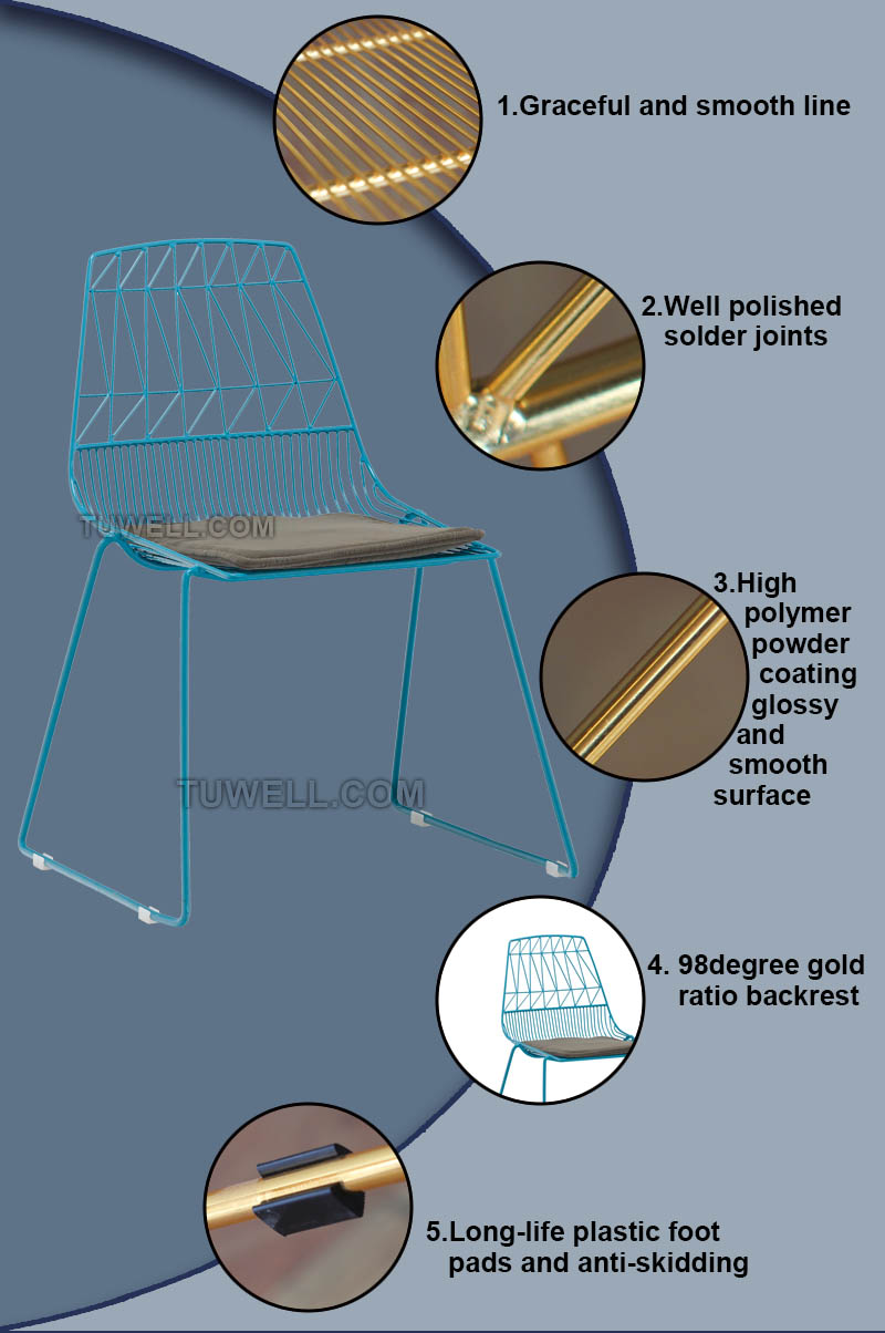 Tuwell-High Quality TW8602 Metal Wire Chair | Wire Chair-4