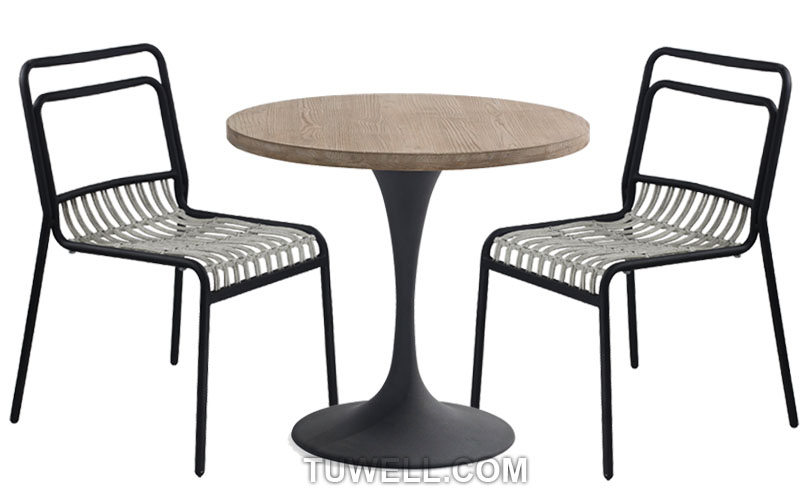 Tuwell-Find Tw8110 Aluminum Rattan Chair-4