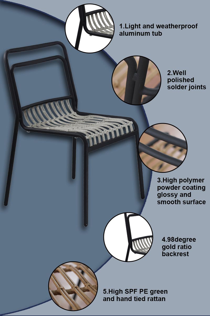 Tuwell-Find Tw8110 Aluminum Rattan Chair-5