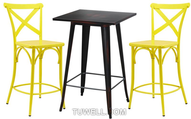 Tuwell-Find Tw8092-l steel Cross Back Bar Chair-4