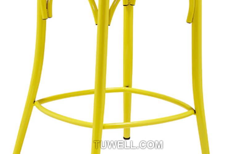 Tuwell-Find Tw8092-l steel Cross Back Bar Chair-8
