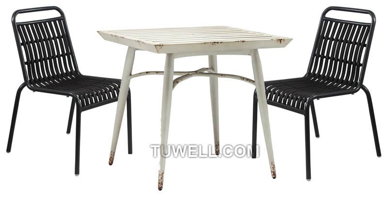 Tuwell-Tw8108 Aluminum Rattan Chair | Round Rattan Chair | Rattan Chair-4