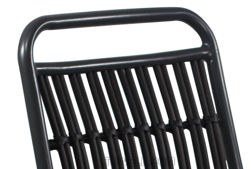 Tuwell-Tw8108 Aluminum Rattan Chair | Round Rattan Chair | Rattan Chair-6