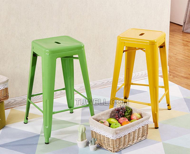 Tuwell-Tw8010 Steel Tolix Barstool | Tolix Chair Original | Tolix Chair-7
