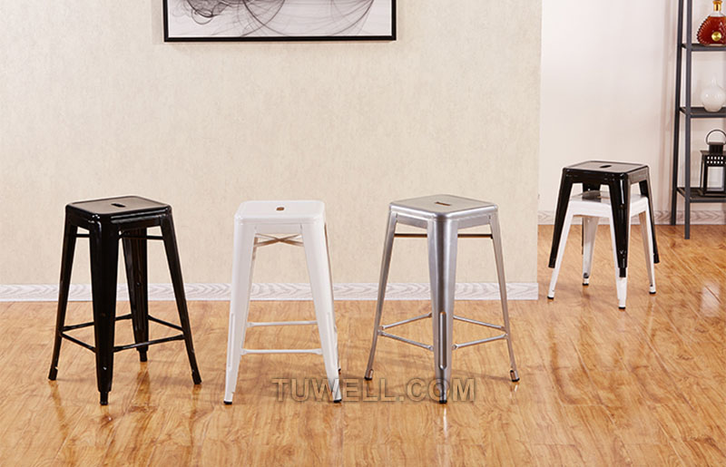 Tuwell-Tw8010 Steel Tolix Barstool | Tolix Chair Original | Tolix Chair-8