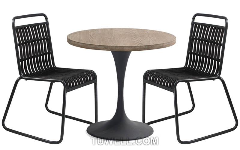 Tuwell-Best Tw8109 Aluminum Rattan Chair Manufacture-4