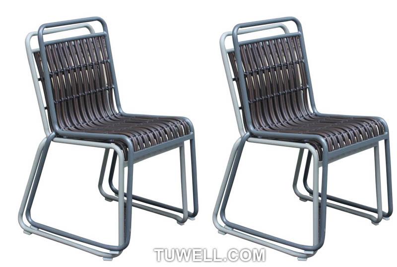 Tuwell-Best Tw8109 Aluminum Rattan Chair Manufacture-11