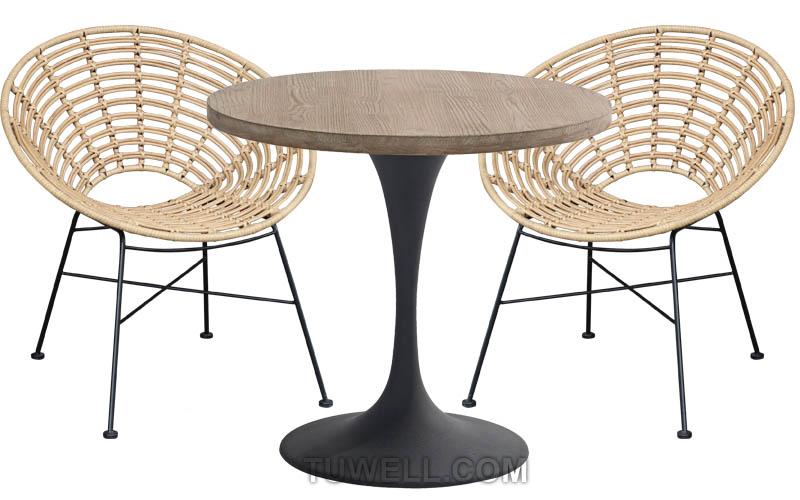 Tuwell-Find TW8712 Steel Rattan Chair-4
