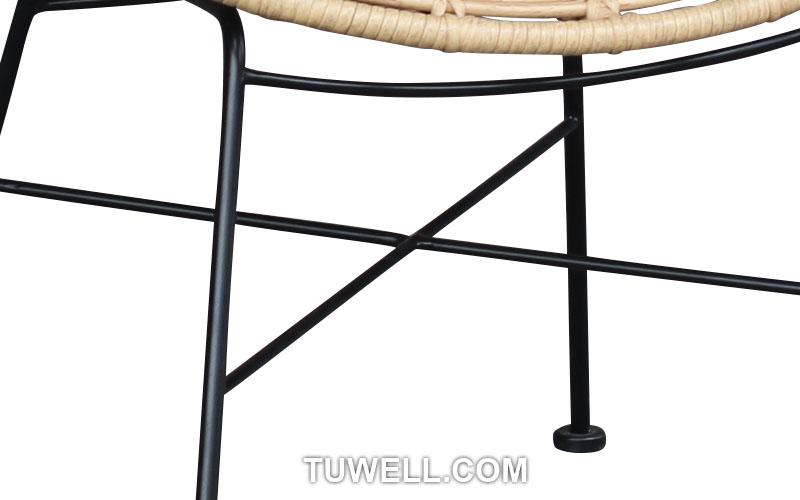 Tuwell-Find TW8712 Steel Rattan Chair-9