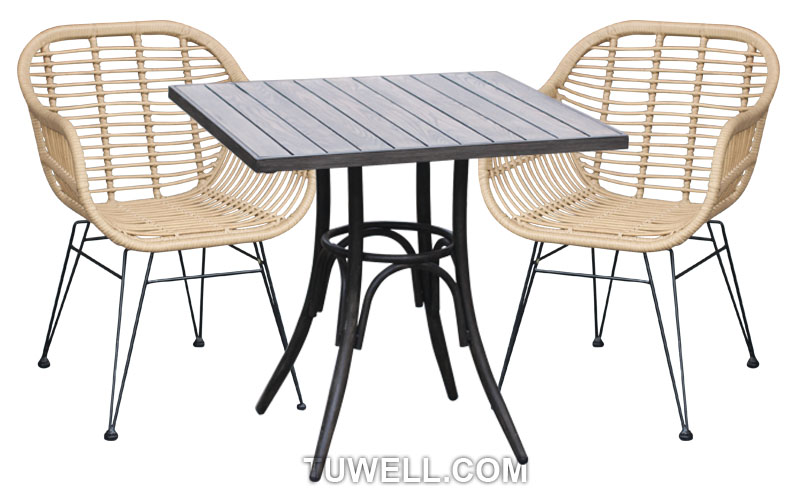 Tuwell-Find TW8711 Steel Rattan Chair-4