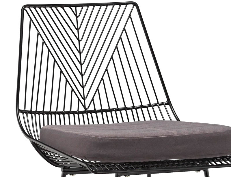 Tuwell-High Quality Tw8613-l Metal Wire Bar Chair | Wire Chair-8