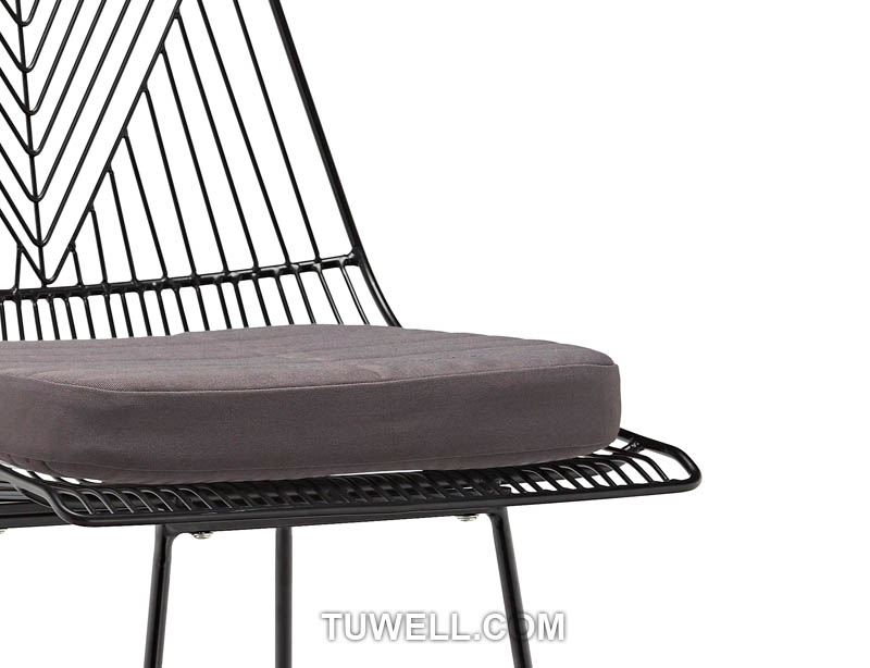 Tuwell-High Quality Tw8613-l Metal Wire Bar Chair | Wire Chair-9