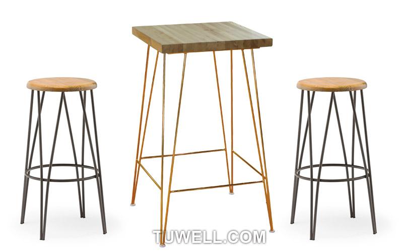 Tuwell-Tw8041 Steel Bar Stool | Steel Chair-4