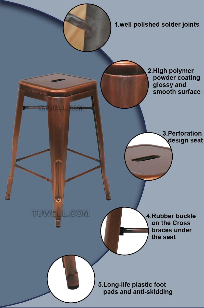 Tuwell-Find Tw8003-l Steel Tolix Barstool | Replica Tolix Chair-5