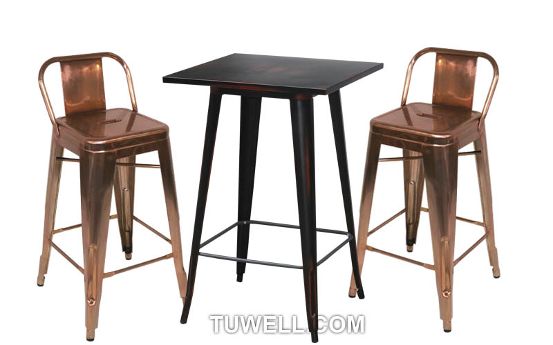 Tuwell-Tw8005-l Steel Tolix Barstool | White Tolix Chairs | Tolix Chair-4