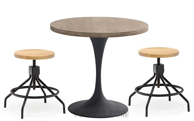 Tuwell-High Quality Tw6102 Steel Bar Stool   Steel Chair-4