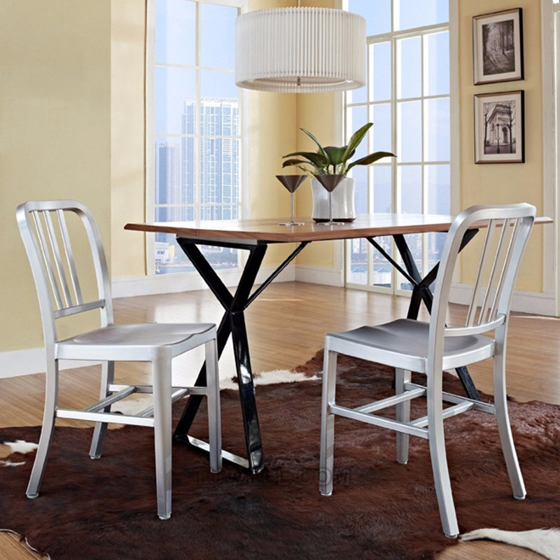 Tuwell-Find Tw1005 Emeco Aluminum Navy Chair | Navy Dining Chairs-15
