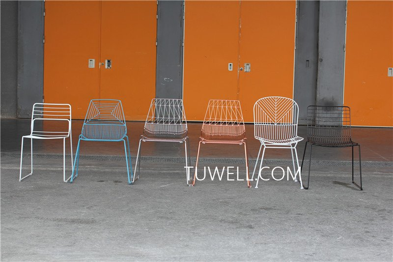 Tuwell-High Quality TW8601 Steel Wire Chair | Wire Chair-11