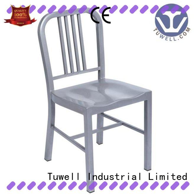 Tuwell high quality navy blue chair easy clean for restaurant