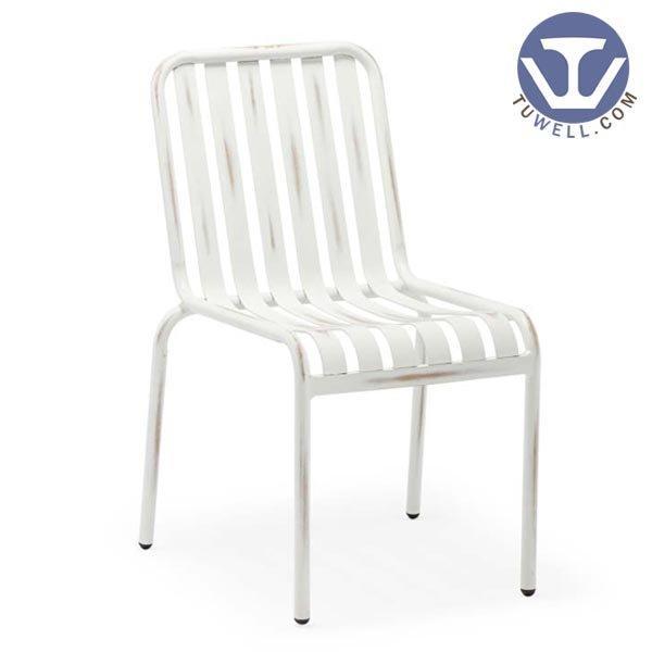TW8104 Aluminum chair metal dining chair outdoor aluminum chair