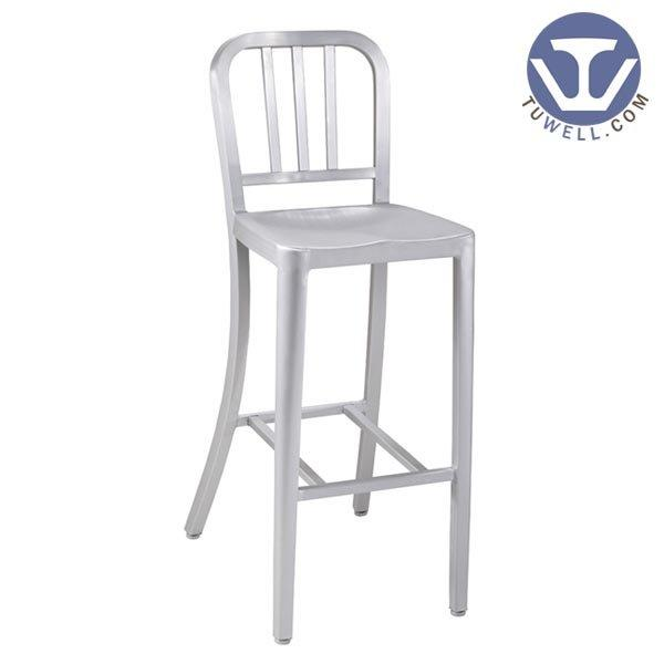 TW1005-L Emeco Aluminum Navy Barstool indoor and outdoor banquet barchair American industrial style