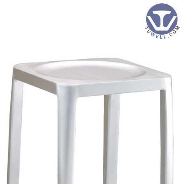TW1010-L Emeco Navy Square Barstool indoor and outdoor bar chair American industrial style