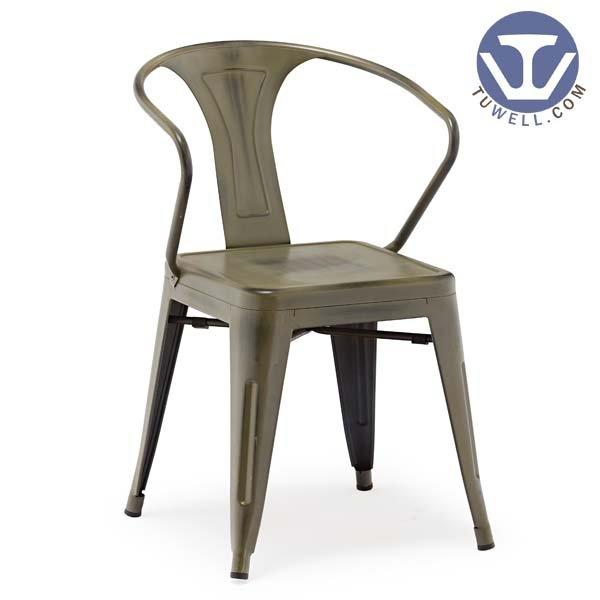 TW8012 Steel Tolix chair, Dining chair, Arm chair, restaurant chair, bistro chair