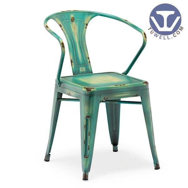 TW8012 Steel Tolix chair, Dining chair, Arm chair, restaurant chair, bistro chair