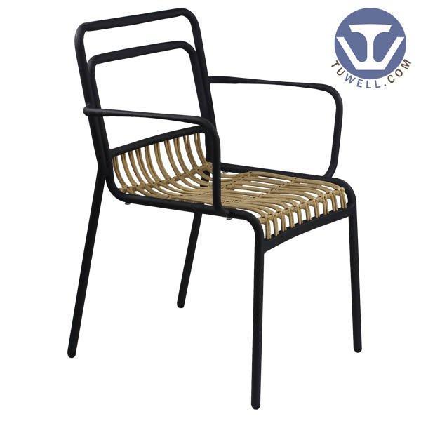 TW8111 indoor outdoor Aluminum rattan chair garden funiture European leisure style