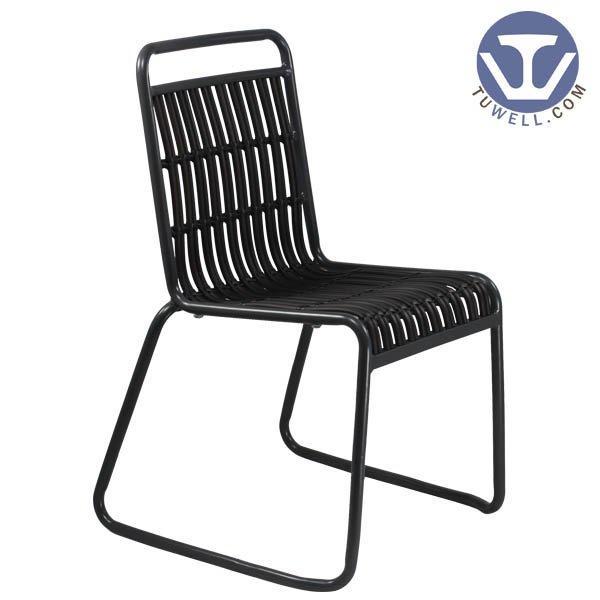 TW8109  indoor and outdoor Aluminum rattan chair for garden European leisure style