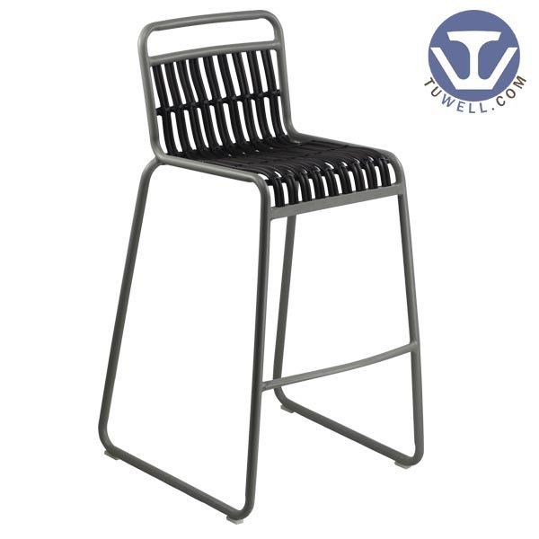 TW8109-L indoor and outdoor Aluminum rattan bar chair for bistro European leisure style high qua