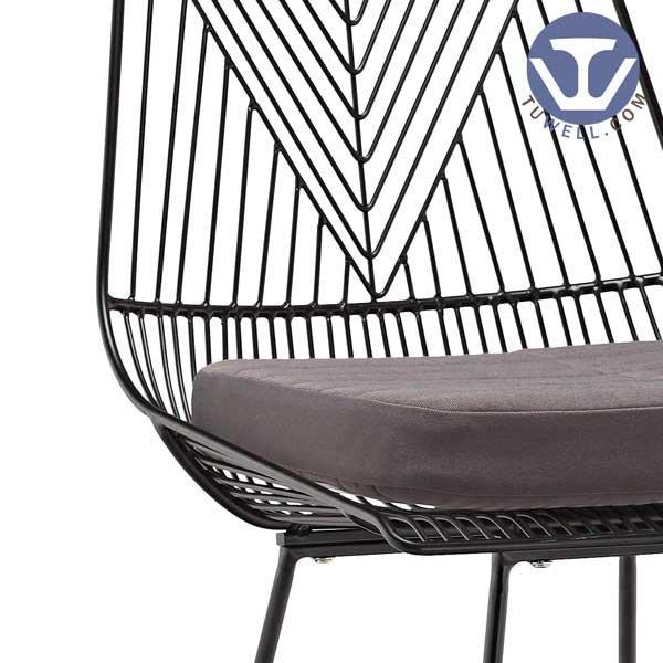 TW8613-L Steel wire bar chair, lucy chair, dining chair, Bertoia chair, restaurant chair