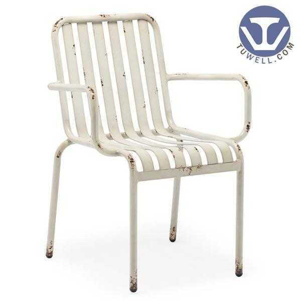TW8106 Aluminum chair for dining Aluminum slat chair