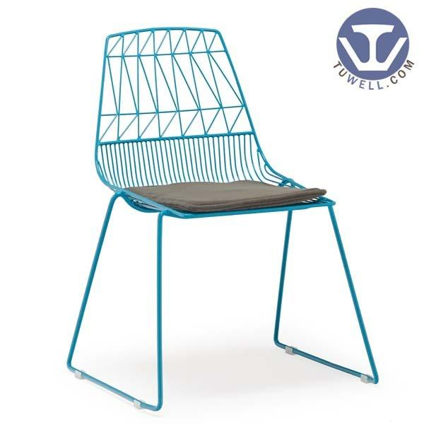 TW8602 Steel wire chair, lucy chair metal dining chair