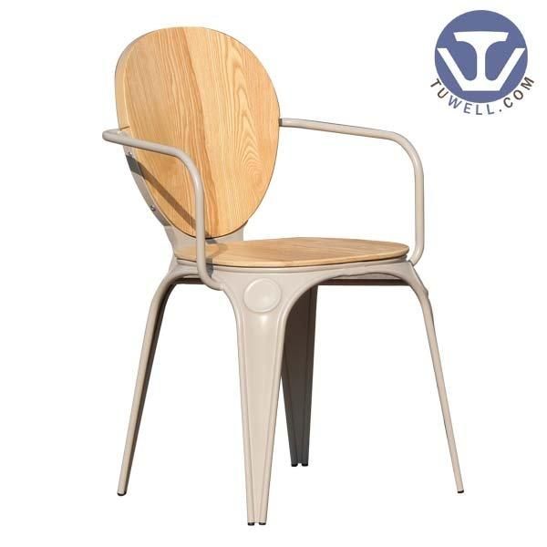 TW8025 Louix chair, Steel dining chair