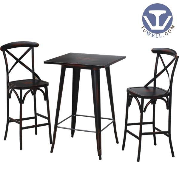 wood and metal bar stools TW8008-L Metal bar table cafe bar table Guidelines