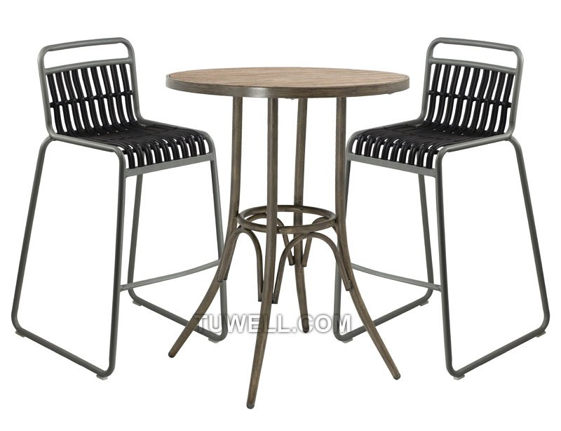 Tuwell-Best Tw8109-l Aluminum Rattan Bar Chair Small Rattan Chairs-4