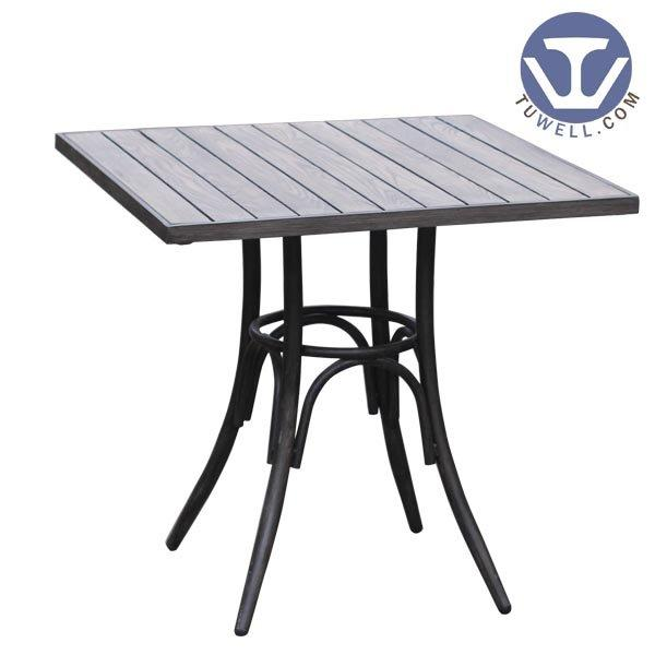 TW7026  Aluminum dining table cafe table