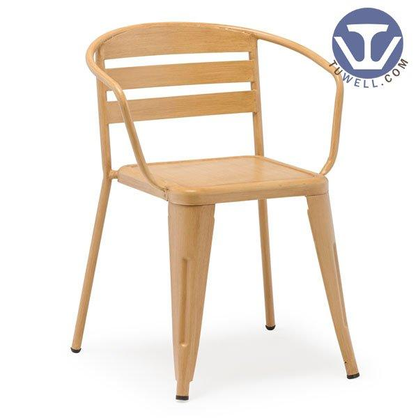 TW5907 Steel dining chair with arms Nordic style